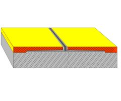 Hliníková MINI dilatace pro lité podlahy, 10mm výška, černá guma, 2,5m