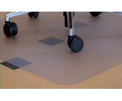 Podložka pod kolečkovou židli bezbarvá