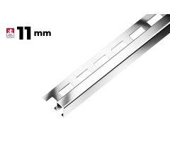 NREZ.ukončovací profil hrana 11mm/2,7m POLOLESK
