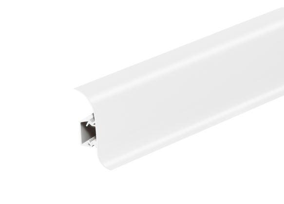 Soklová lišta měkčená, Salag, 56 mm, PVC, bílý, 2,5 m