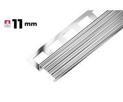 """AC SP22 schodová lišta """"TREP"""", nerez V2A protiskluz, v: 11 mm, d: 2,5 m"""