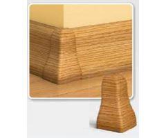 Soklová Lišta AP30 Vnější Roh PVC dub rustikální bílá
