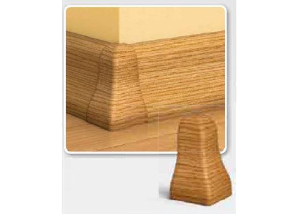 Soklová Lišta AP30 Vnější Roh PVC pekanový ořech