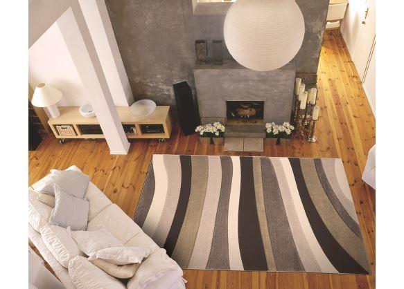 Koberec Moderno Stripe Beige-Cream 120x170cm