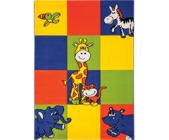 Dětský kusový koberec Kiddy Zoo 80x150 cm