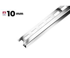 Ukončovací profil hrana 10mm, nerez kartáčovaná  3m