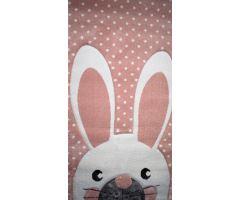 Dětský kusový koberec Kiddy Bunny 80x150 cm, růžový