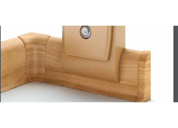 L+P k NG56,PVC dub ,balení obsahuje 1 pár koncovek  dub šedý