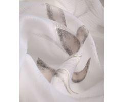 Záclona Aspen Organza tyrkysová bílá