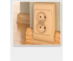 Soklová Lišta AP30 Salag Zásuvka PVC bílá