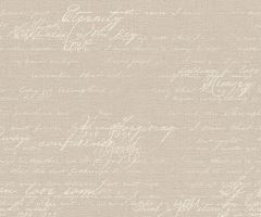 Tapeta Fashion Text Vlies s buničitým vláknem beige