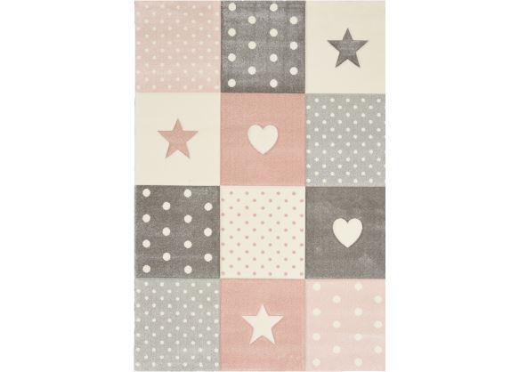 Dětský kusový koberec Kiddy Star 120 cm kruh