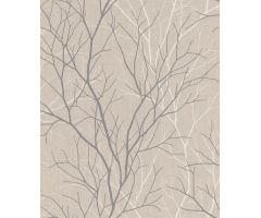 Tapeta Metropol Trees Vlies s buničitým vláknem greige