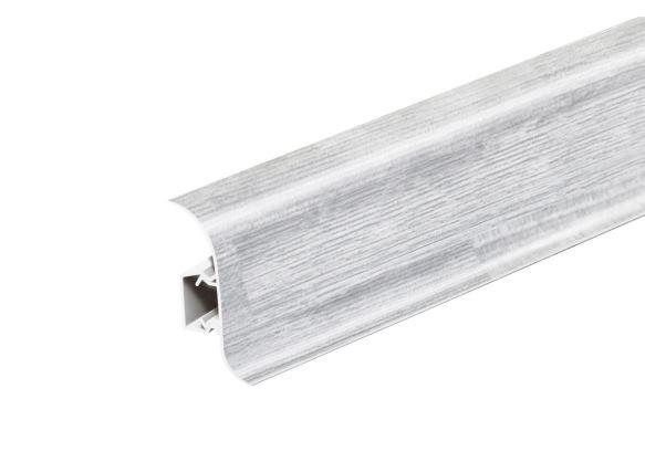 AP28 Soklová Lišta Salag Flexi PVC smrk stříbrný