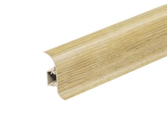 AP28 Soklová Lišta Salag Flexi PVC jasan sibiřský matný