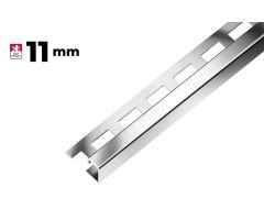 Ukončovací profil hrana 11mm, nerez 3m