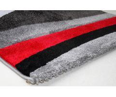 Koberec Moderno Stripe Grey-Red