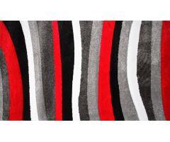 Koberec Moderno Stripe Grey-Red 160x230cm