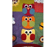 Dětský kusový koberec Kiddy Owl 120x170cm