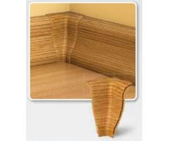 Soklová Lišta AP30 Vnitřní Roh PVC dub