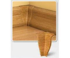 Soklová Lišta AP30 Vnitřní Roh PVC popelavě bílý
