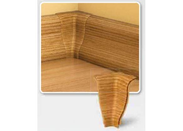 Soklová Lišta AP30 Vnitřní Roh PVC rustikální bílá